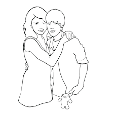 taylor swift and selena gomez coloring pages page kids sheets cute long hair here are pictures