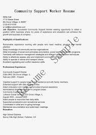 Resume Community Service Resume For Study