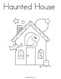 Small Picture Haunted House Coloring Page Twisty Noodle