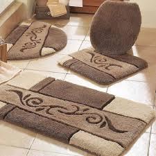 bathroom rug set vintage bathroom brown bath mat rug set dark throughout 2 piece bathroom rug sets
