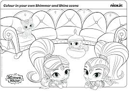 Shimmer And Shine Coloring Pages Cantierinformaticiinfo