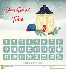 christmas calendar background. Download Christmas Advent Calendar Background Poster With Lantern Firtree And Ball