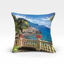 Купить <b>декоративную подушку</b> «967097» синий/голуб., бежевый ...