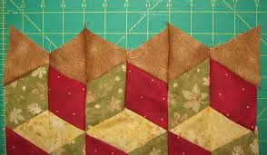 How to make quilt baby blocks with no Y seams using a 60 degree ruler & Easy Quilt Baby Blocks Tutorial ... Adamdwight.com