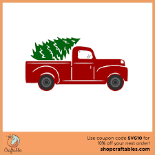Choose from 17000+ christmas tree graphic resources and download in the form of png, eps christmas tree with red stars and golden balls merry christmas. Free Tree Truck Svg Cut File Craftables