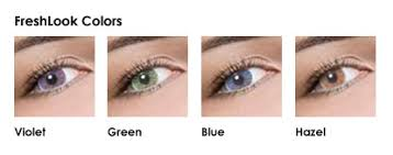Freshlook Lenses Colors Chart Freshlook Colored Lenses Color Examples
