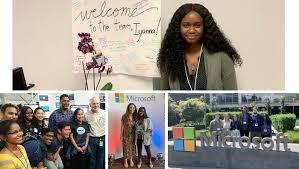 Microsoft Internship Apply My Summer Internship Iyanna Mccoy Lerner