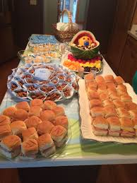 Baby Showers On A Budget Baby Shower Food On A Budget Sandwiches On Hawaiian Rolls Pretzel