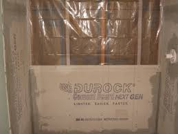 Conventional Shower Construction With Cement Board For Tile Bathrooms - Insulating a bathroom