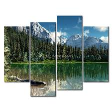 3 piece wall art painting rocky mountain national park lake snow mountain trees print on canvas the picture landscape in painting calligraphy from home  on 3 piece wall art mountains with 3 piece wall art painting rocky mountain national park lake snow