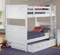 Sanibel Bedroom Furniture Homelegance B2119w 1 Sanibel White Trundle Twin Twin Bunk Bed