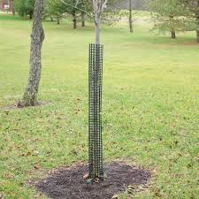 leonard rigid plastic mesh tree guards set of 5