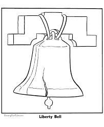 Small Picture Patriotic Symbols Liberty Bell Coloring Page 002
