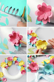 Diy Paper Flower Wreath If You Want To Boost Your Home Decor Theres Nothing Lovelier Than