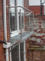 Walk out balcony balustrade. Step out juliet balcony design by Diomet.