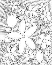 Flower Coloring Pages Pdf Or Free Adult Coloring Pages Detailed