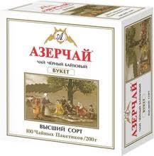 Чай Азерчай <b>&quot</b>;<b>Букет&quot</b>;, черный, 100 пакетиков