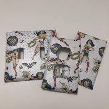Decoupage Light Switch Plates Amazon Com Wonder Woman Light Plate Cover Light Switch