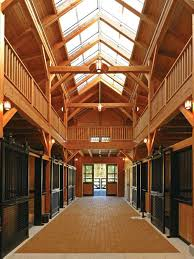 horse barn lighting example of a trendy design in fluorescent
