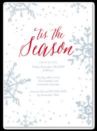 Holiday Party Invitations On Seeded Paper Organic