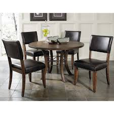 hilale cameron 5 piece round wood dining table set with parson chairs hayneedle