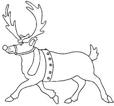 Kleurplaat Kerst Kleurplaat Kerst Rendier Animaatjesnl