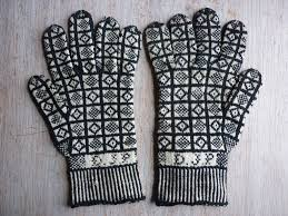 Prince Of Wales Knitting Gloves