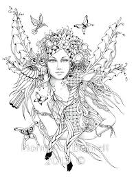 Fire Fairy Coloring Pages