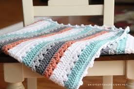Free Crochet Blanket Patterns Cool Crochet Blanket Pattern A Quick Simple Pattern Daisy Cottage