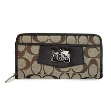 Coach Logo Signature Large Brown Wallets EEU Would Slid Away From Your Life  And Just Grab