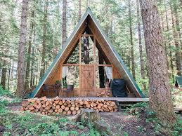 Time to build a fire and cheers in this A-Frame cabin rental in Ashford