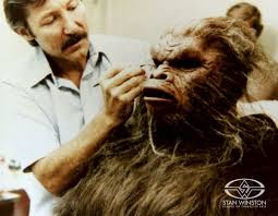 lance anderson applies hair to his make up designs inc creation for the film stan winston stan bridal