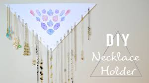 Diy Necklace Holder Diy Easy Cheap Necklace Holder 20 Necklaces Youtube