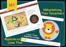 Hier findet ihr fertige vorlagen zum ausdrucken! Lowenstarkes Kombipaket Appliziervorlage Lowe Theo Nahanleitung Theo Tatzenherz Zum Vorteilspreis