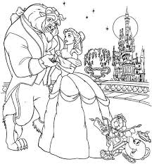 Beauty And The Beast Coloring Pages Free Download Jokingartcom