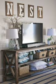 High/low: Country-chic living room console