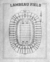 Print Of Vintage Lambeau Field Seating Chart Seating Chart