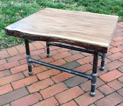 Pipe Furniture Live Edge Side Table With Hairpins Pipes Etsy And Pipe Furniture