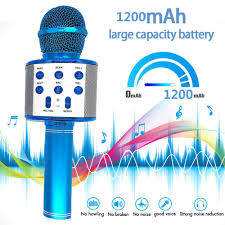 Giao Hàng Nhanh WS 858 Micro Hát Karaoke Không Dây Loa Ghi Âm Youtube  Bluetooth Micro Cho Điện Thoại Thông Minh K9 Trẻ Em Mic Hát|Míc
