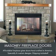 fireplace glass doors charming glass fireplace