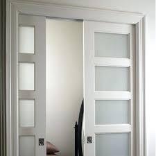 frosted pocket door bathroom glass doors sliding