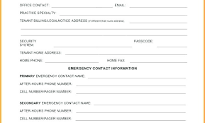 template for emergency contact information emergency contact information sheet template emergency