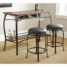 Counter Height Bistro Table Set Steve Silver Dakota 3 Piece Counter Height Pub Table Set Dark