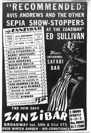 1943 july 8. New York, Ella Fitzgerald   Zanzibar, Cab calloway, Vintage  advertising art