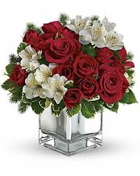 Teleflora's Christmas Blush Bouquet in Wichita Falls TX - Mystic Floral & Garden