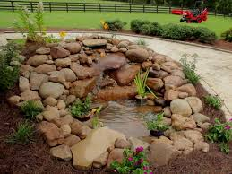 diy patio pond:   building garden waterfall  sx