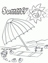 Small Picture free printable summer beach umbrella coloring pages Printable