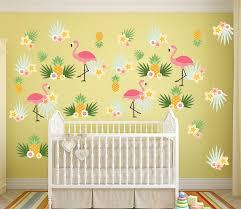 flamingo pineapple wall decal set flamingo pineapple wall decal set wall decal wall sticker