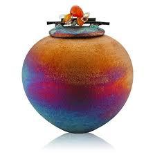 Raku Dream Catcher Jar Enchanting Raku Dream Catcher Jar With Gemstone Lid Equinox Gifts