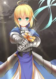 short hair blonde green eyes anime anime s fate stay night